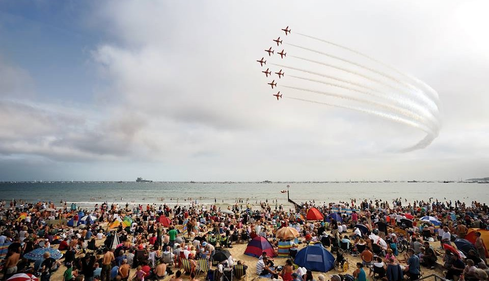 Red Arrows at Bournemouth Air Festival, Dorset