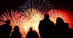 Fireworks at Bovington Tank Museum, Wareham, Dorset