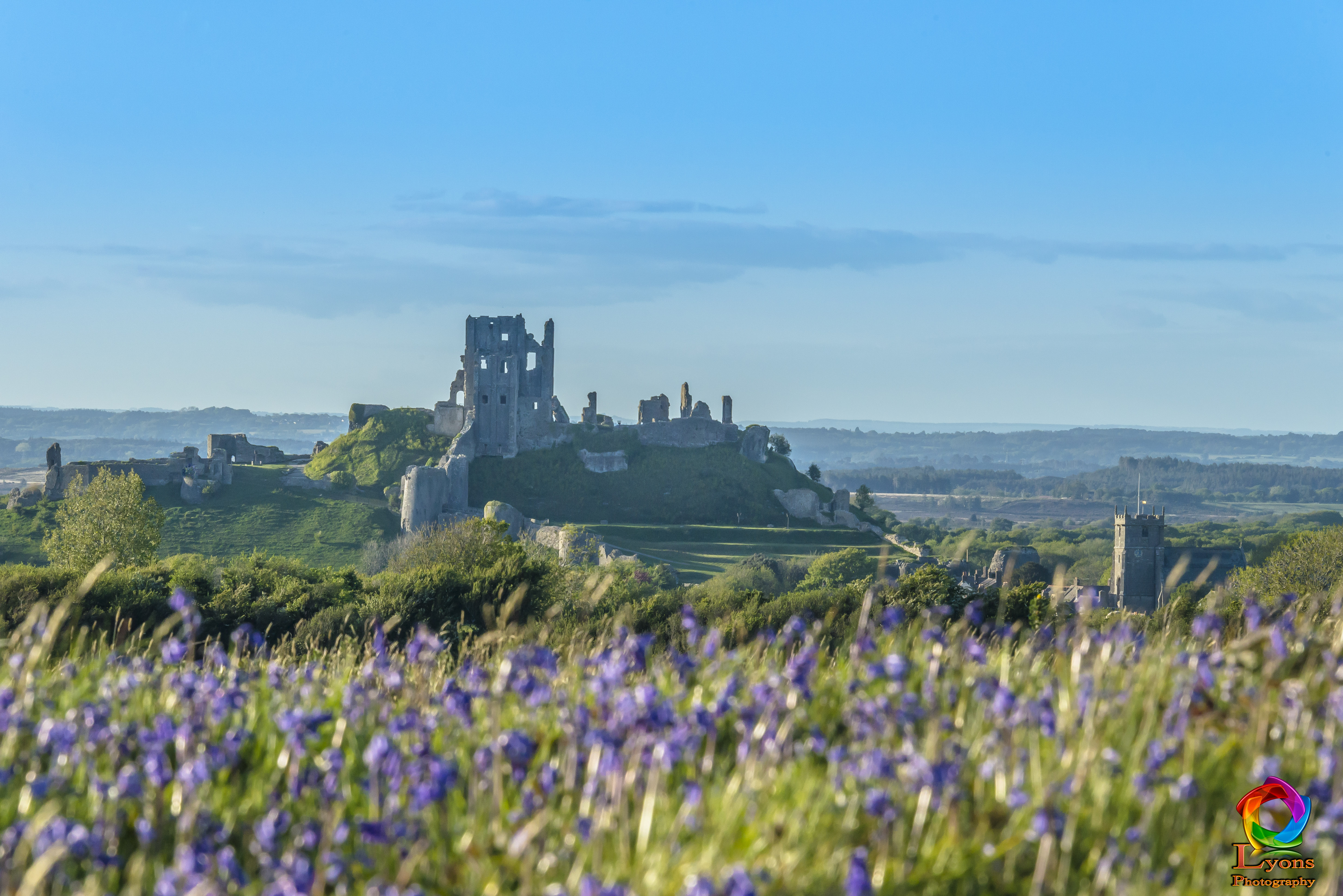view of corfe castle