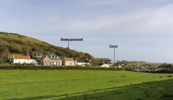 holiday cottage in lulworth cove location