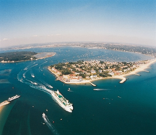 photo of brownsea island aerial view