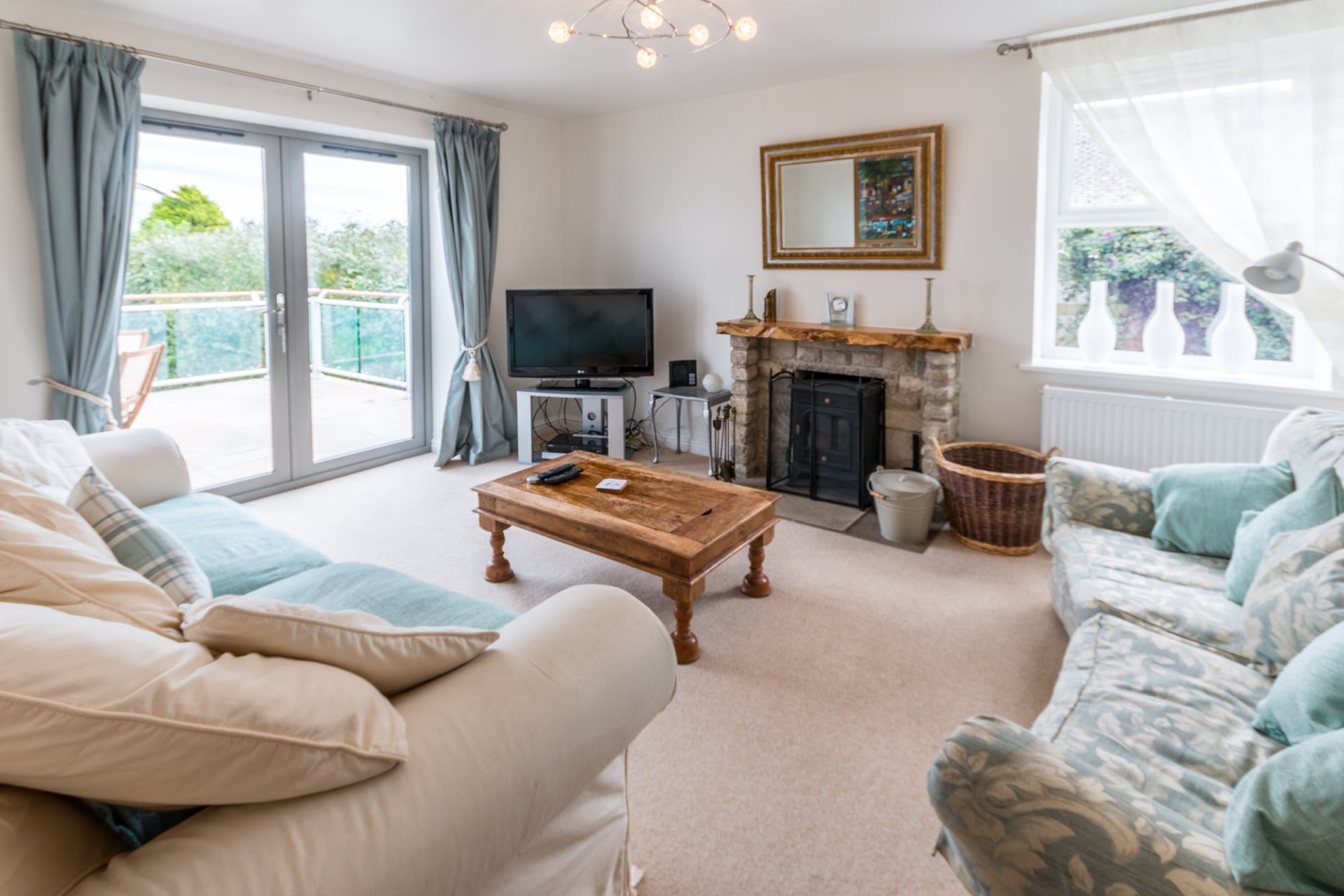 luxury dorset holiday cottage living room 2