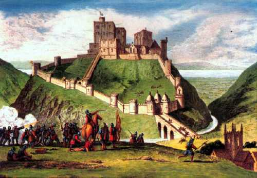 corfe castle depicted in 1643